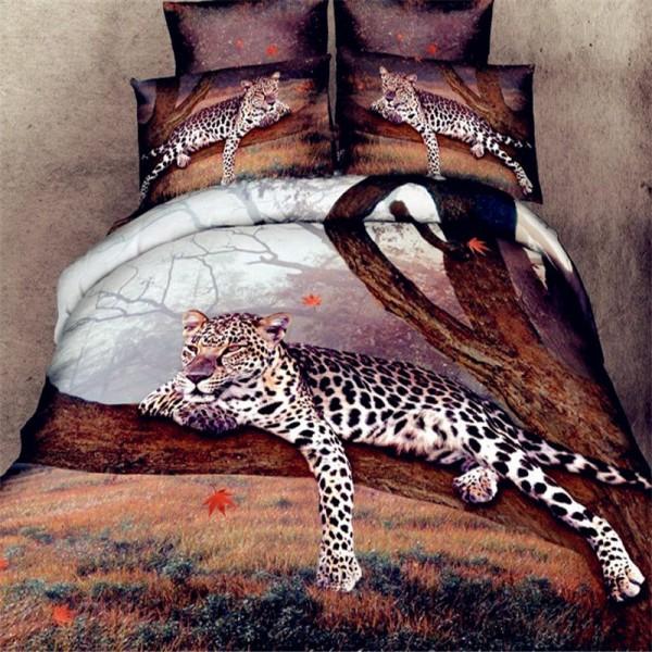 Комплект постельного белья 3D мако-сатин Дуэт Семейный