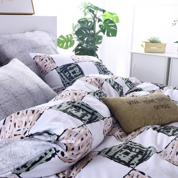 Комплект постельного белья Люкс-Сатин Дуэт Семейный