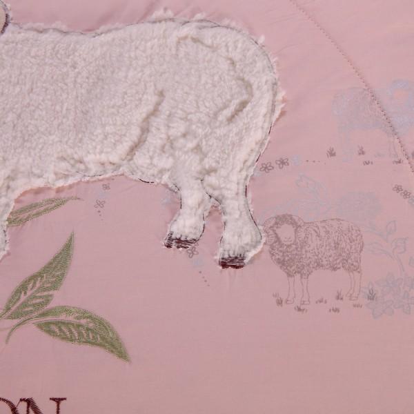 Одеяло Овечий пух с вышивкой Premium Евро