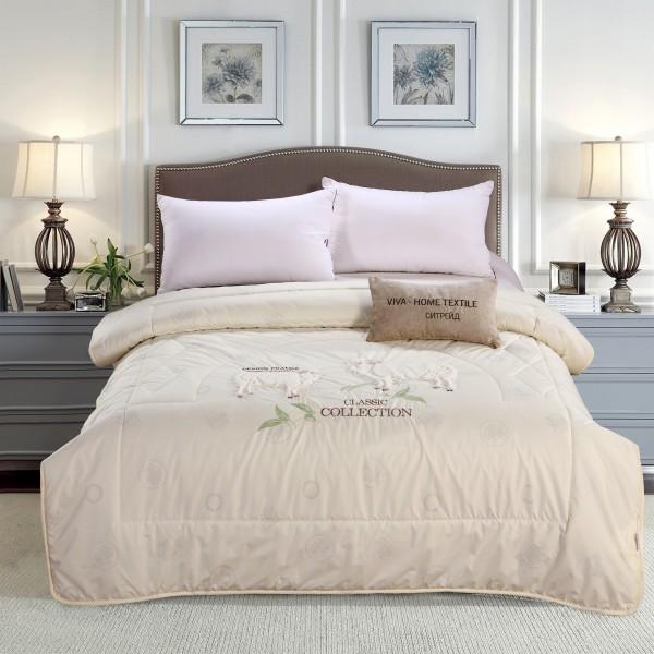 Одеяло Овечий пух с вышивкой Classic 2 спальный
