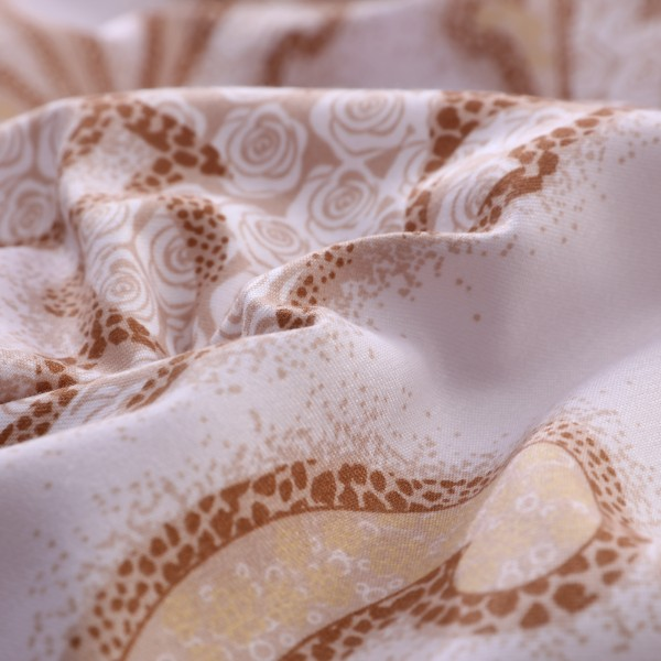 Комплект постельного белья Сатин вышивка Дуэт Семейный