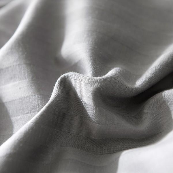 Постельное белье Однотонный страйп-сатин на резинке Евро