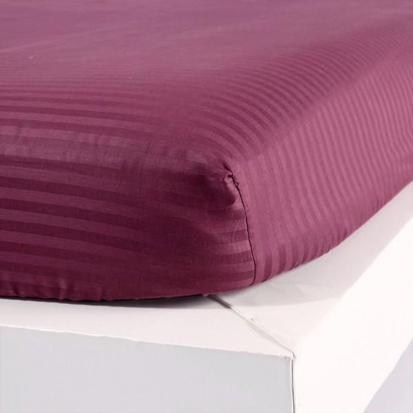 Постельное белье Однотонный страйп-сатин на резинке Дуэт