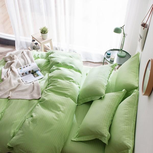 Постельное белье Однотонный страйп-сатин 2 спальный