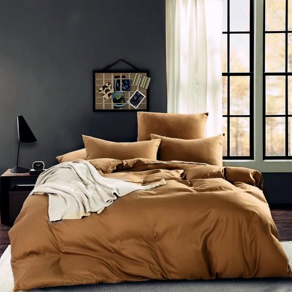 Комплект постельного белья однотонный Сатин 1.5 спальный