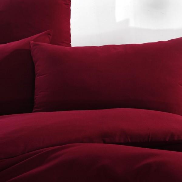 Комплект постельного белья однотонный Сатин Евро
