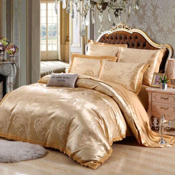 Комплект постельного белья жаккард с вышивкой Евро