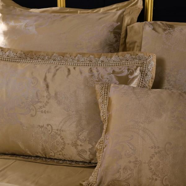 Комплект постельного белья жаккард с вышивкой 2 спальный