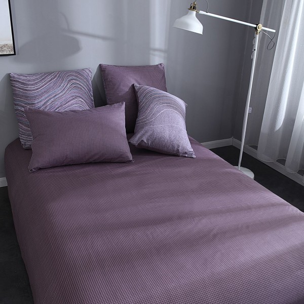Комплект постельного белья Делюкс Сатин на резинке 2 спальный