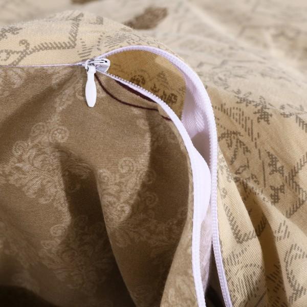 Комплект постельного белья Делюкс Сатин на резинке Евро