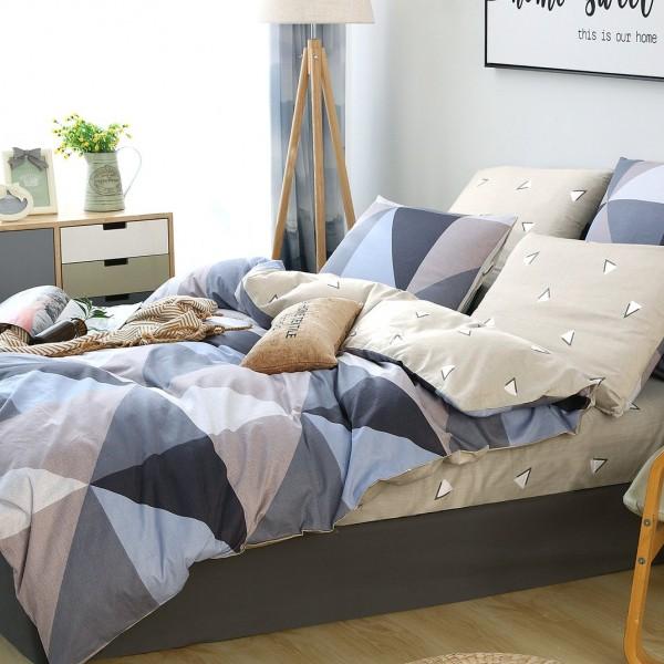 Комплект постельного белья Делюкс Сатин Евро